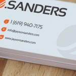 jsanders business card